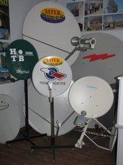 Спутниковые связь,  интернет и телевидение.
