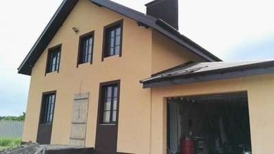 Выполняем работы по покраске фасадов зданий. - main